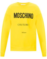 Moschino Sweatshirt With Logo Yellow