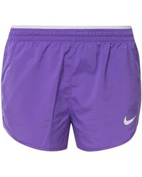 Nike Logo-printed Shorts - Purple