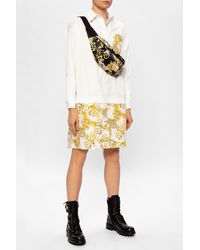 Versace Jeans Couture Barocco-printed Dress White