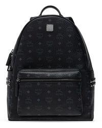 MCM Logo Backpack - Black