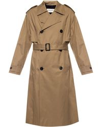 Saint Laurent Double-breasted Trench Coat - Natural