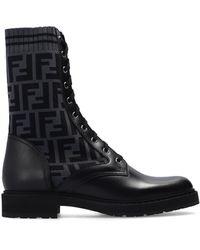 Fendi Boots With Sock Black