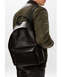Philipp Plein Backpack With Logo - Black