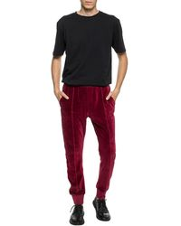 Haider Ackermann Velvet Sweatpants Burgundy - Red