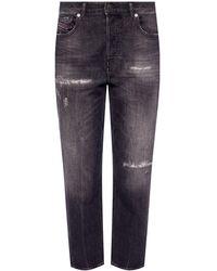 DIESEL 'd-aryel' Distressed Jeans Grey