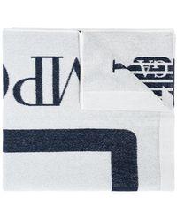 EA7 Towel With Logo Unisex White