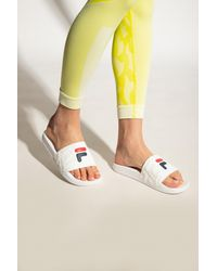 Fila 'baywalk' Slides With Logo - White