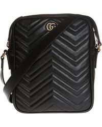 c2ed3b8c733 Lyst - Gucci Gg Marmont Quilted Leather Belt Bag in Black for Men