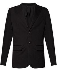 Emporio Armani Blazer With Notch Lapels Black
