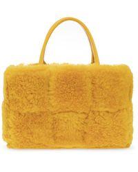 Bottega Veneta 'arco Tote Small' Hand Bag - Yellow