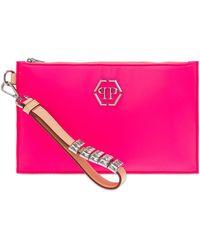 Philipp Plein Hand Bag With Logo Pink