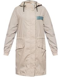 Yves Salomon Jacket With Inserts Beige - Natural