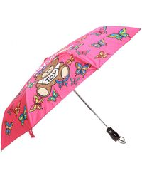 Moschino Patterned Umbrella - Pink