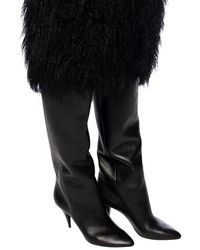 Saint Laurent 'kiki 85 Mm' High-high Boots Black