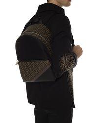 Fendi Fabric Backpack - Black