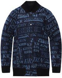 Kirin Bomber Jacket With Logo - Blue