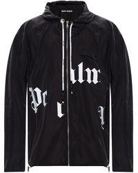 Palm Angels Branded Jacket - Black