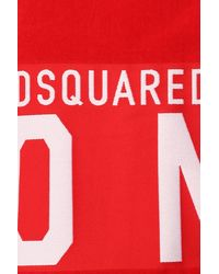 DSquared² Towel With Logo Unisex Red