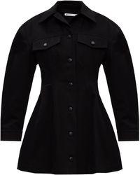 T By Alexander Wang Long-line Denim Jacket Black