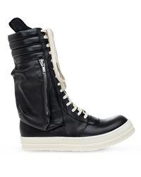 Rick Owens Knee-high Sneakers - Black