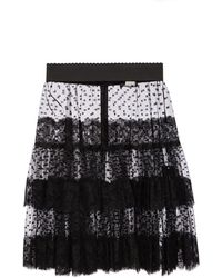 Dolce & Gabbana Lace Skirt - Black