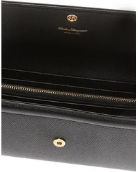 Ferragamo Vara Leather Wallet - Black