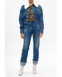Balmain High-waisted Jeans Blue