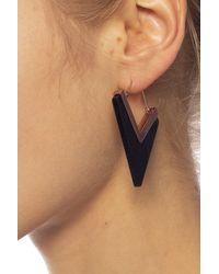 Isabel Marant Earrings With Logo Black