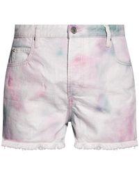 Étoile Isabel Marant High-waisted Denim Shorts Multicolour