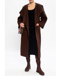 Totême Wool Coat Brown