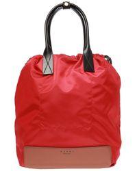 Marni Logo-printed Backpack - Red
