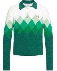 CASABLANCA Sweater With Logo - Green