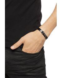 Saint Laurent Bracelet With Metal Logo Black