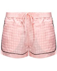 Balmain Silk Pyjama Trousers Pink
