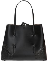 Alaïa 'mina' Perforated Handbag - Black