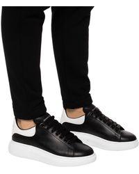 Alexander McQueen Oversize Sneakers In Leather - Black