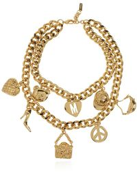 Moschino Necklace With Charms - Metallic