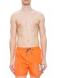 DIESEL Logo Swim Shorts - Orange