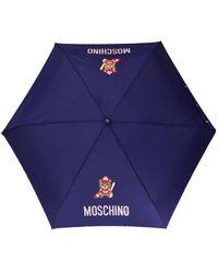 Moschino Logo-printed Umbrella Unisex Purple