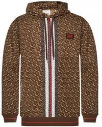 Burberry Tb All Over Print Sweatshirt - Brown
