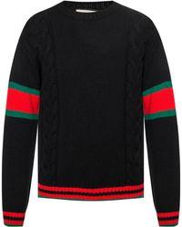 61bae3f8 Men's Gucci Crew neck jumpers Online Sale - Lyst