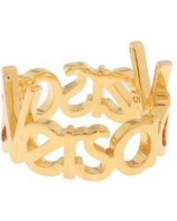Versace - Ring With Logo - Lyst
