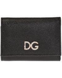 Dolce & Gabbana Branded Wallet - Black