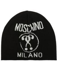Moschino Logo-embroidered Hat - Black