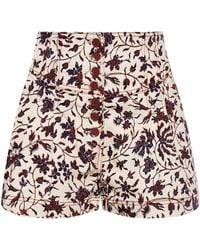 Ulla Johnson Patterned High-waisted Shorts - Multicolour