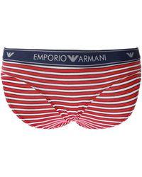 Emporio Armani Branded Briefs With Logo Multicolor - Blue