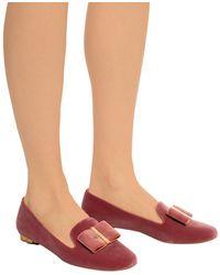 Ferragamo Flower Heel Slipper Shoe - Pink