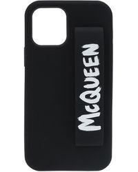 Alexander McQueen Iphone 12 Pro Case Unisex - Black