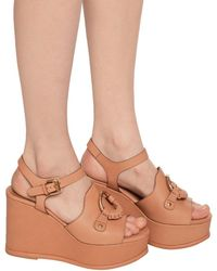 See By Chloé Wedge Sandals - Brown
