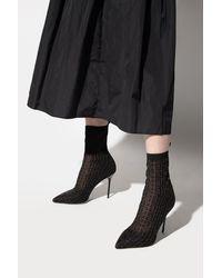 Balmain Stiletto Court Shoes With Logo Black
